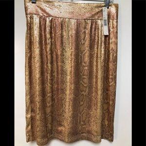 NWT Antonio Melani Gold Sequin Pencil Skirt (8)